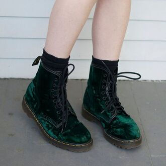 shoes laces green boots drmartens velvet black socks lace up