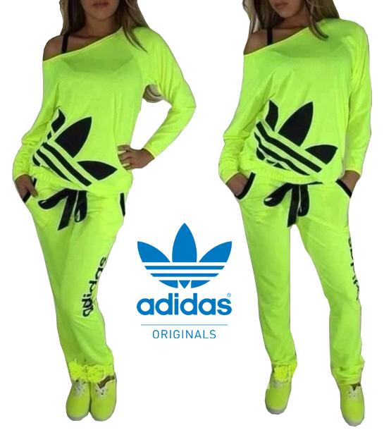 Yellow Adidas Tracksuit Womens