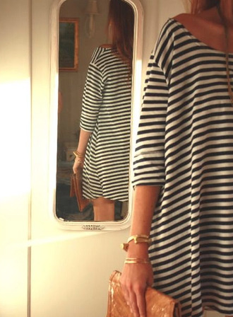 striped dress shift dress
