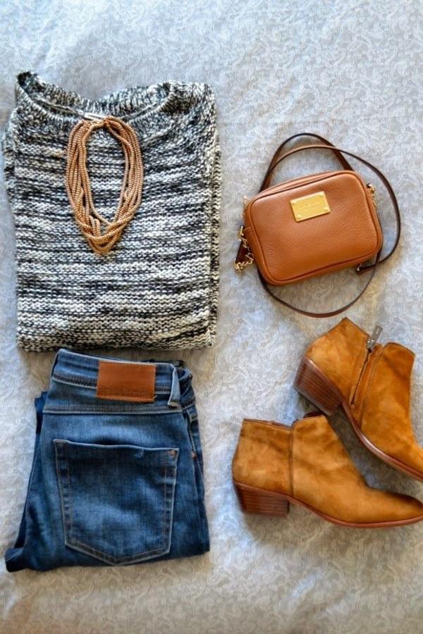 sweater romwe jumper grey jeans