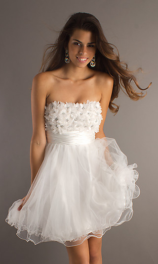 Short strapless prom dress, strapless junior prom dress
