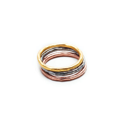mixed metal karma rings, set of three - size 6 - Dogeared