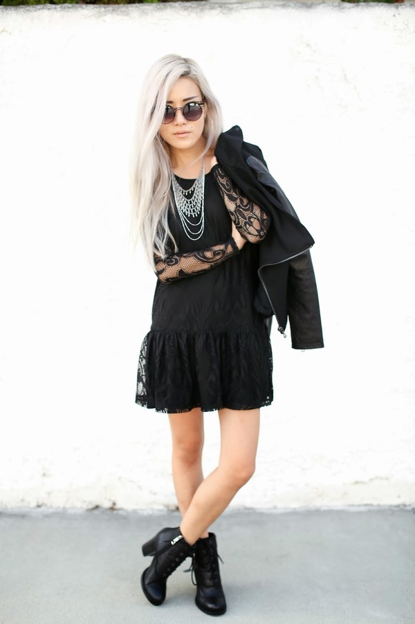 feral creature dress jewels coat sunglasses shoes