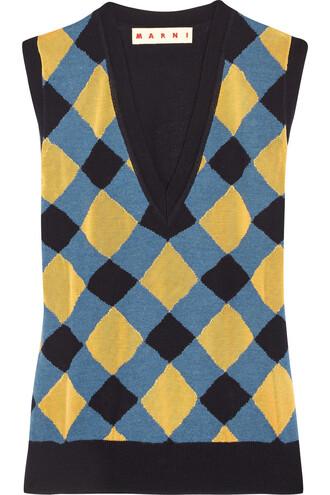 silk wool blue top