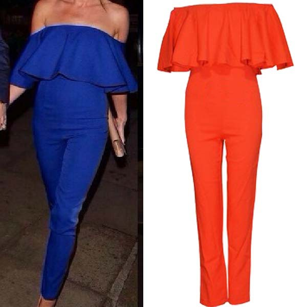 018561a5a294 Aliexpress.com   Buy Free shipping 2014 new BROOKE JUMPSUIT Rompers  Strapless wave piece pants flounced neck ...