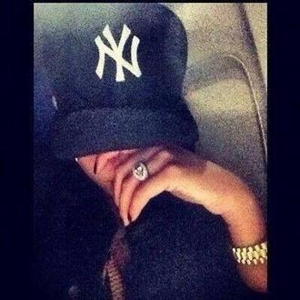 hat cap black snapback