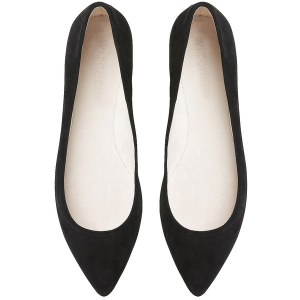 Witchery Pearl Pointed Flat - Polyvore