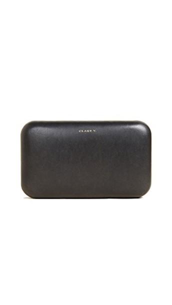 Clare V. clutch black bag