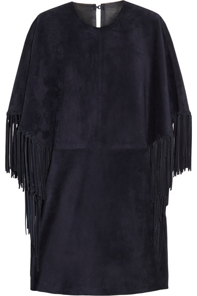 Valentino | Fringed suede mini dress | NET-A-PORTER.COM