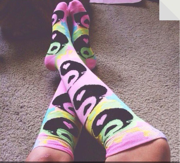 socks colorful yin yang tie dye