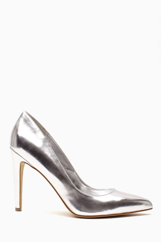 Shoe Cult Luxe Pump - Silver in  Shoes Heels at Nasty Gal