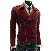 jacket,fashion,ootd,style,menswear,slim fit,shopping,faux-leather,red jacket,biker jacket