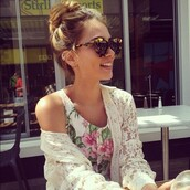 sunglasses,round s,top,jacket,bun,brunette,outfit,dope,dopestuff