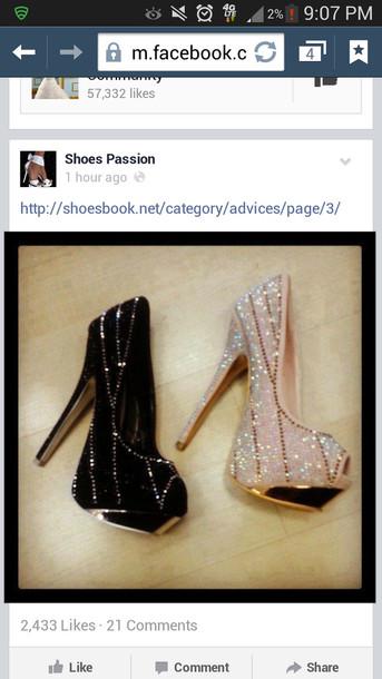 shoes black nude high heels