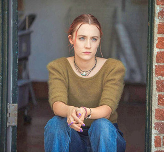 sweater movie saoirse ronan lady bird green sweater knit knitwear actress