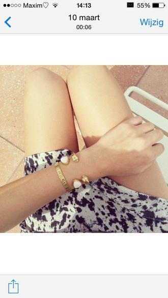 jewels white stone bracelets bangle skull gold diamonds