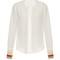 Rainbow-cuff silk crepe de chine shirt