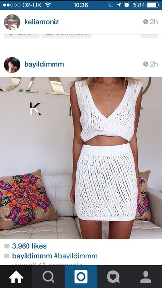 dress two-piece crochet summer outfits