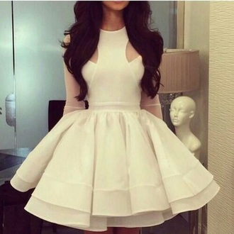 dress white beautiful flirty elegant wedding