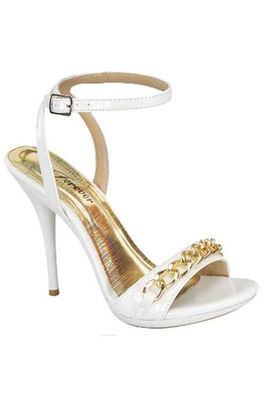 shoes high heels pumps white gold sn a sandel