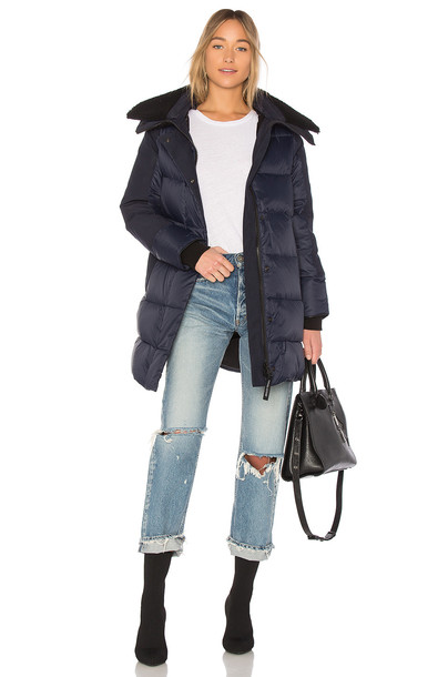 canada goose parka blue coat