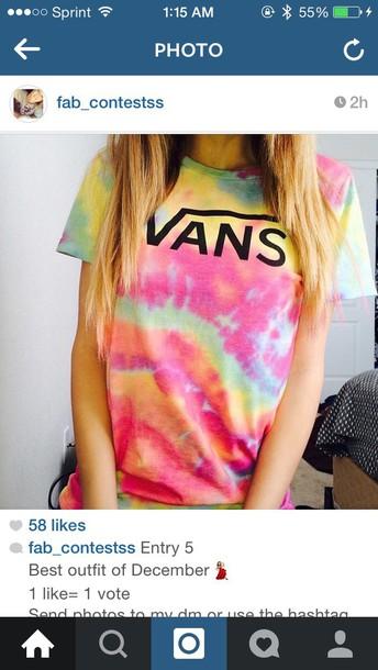shirt vans tie dye shirt