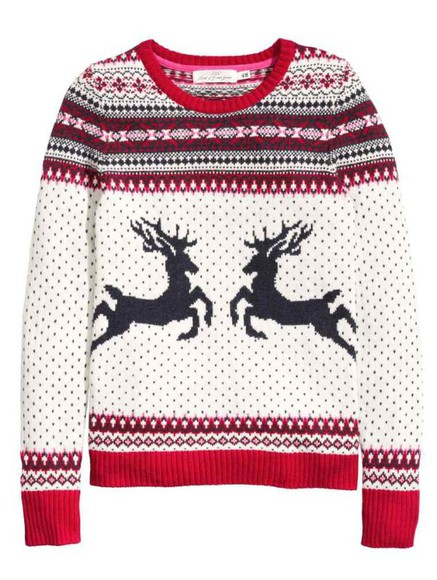 sweater casual style pullover white winter sweater christmas sweater