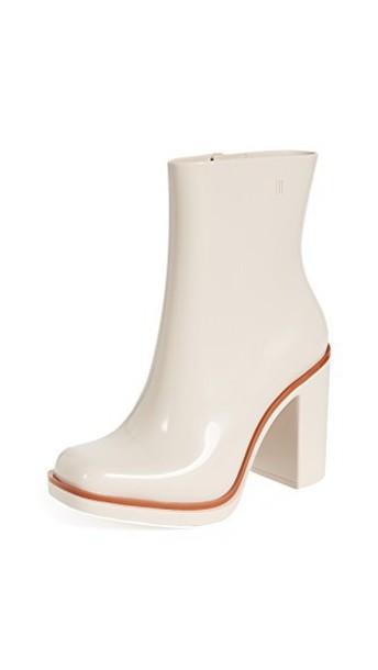 heel chunky heel classic heel boots nude brown shoes