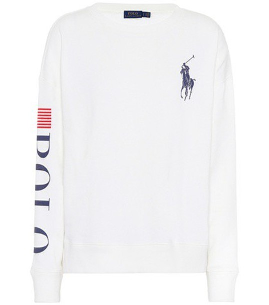 Polo Ralph Lauren sweater embroidered cotton white