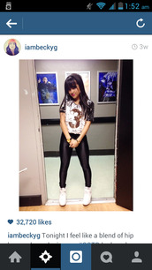 shirt,pants,becky g,shoes,top,leggings,jeans