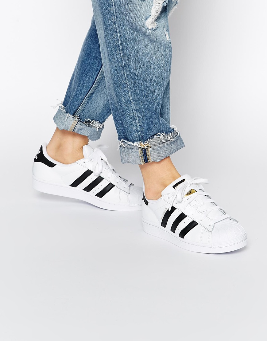 Shop Women Adidas Women Superstar II 413255 White Aqua Metallic