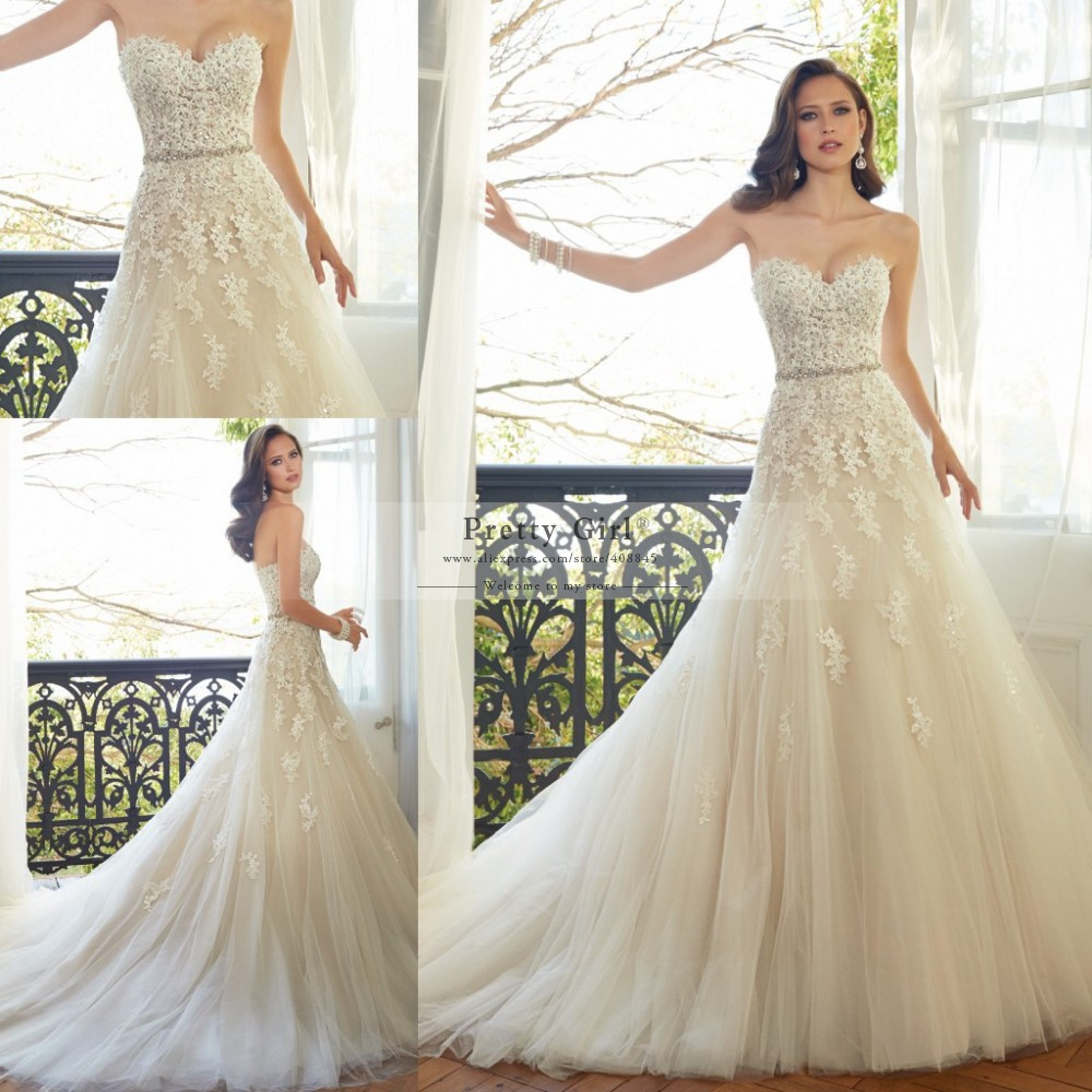 Wedding Dresses  Aliexpress : Wedding gown casamento tulle romantic bridal gowns from reliable dress