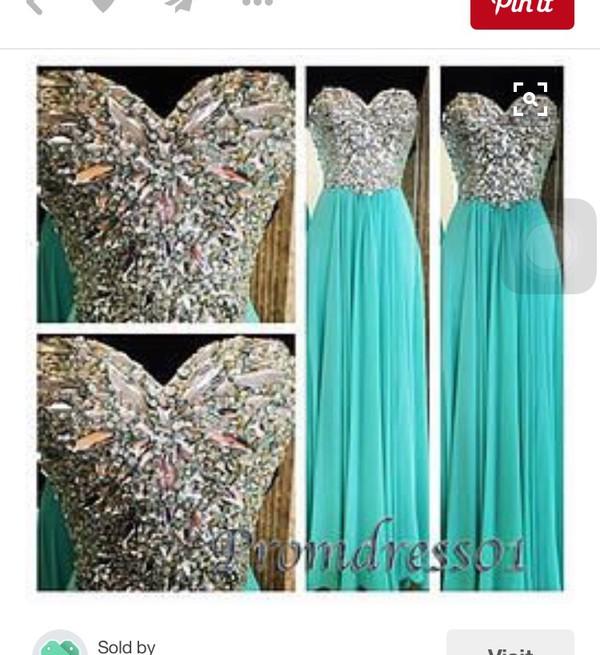 dress blue dress glitter silver prom dress