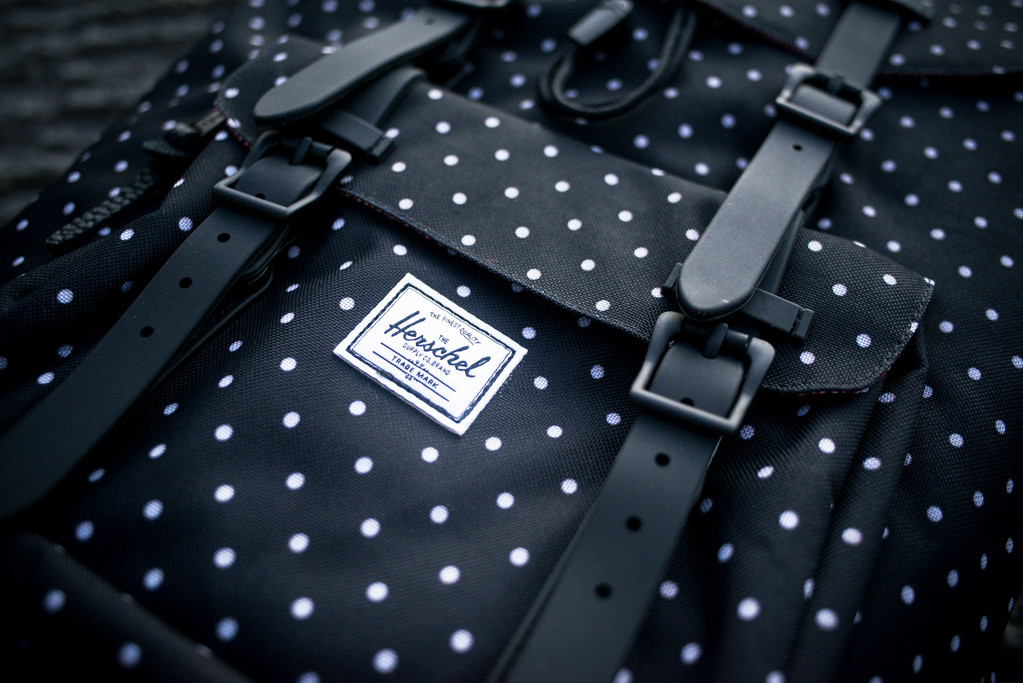 574f08c369b3 Herschel Little America Backpack - Black Polka Dot - Sneaker Politics