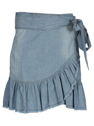 skirt wrap skirt blue
