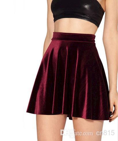 Saias femininas 2014 new womens spring short skirt fashion sexy black velvet skirt female skater skirts 4 styles, $6.44