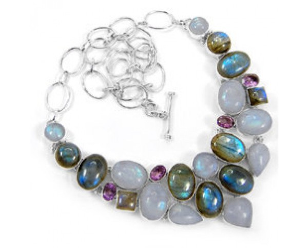 jewels handmade jewelry gemstone necklace beaded necklace stainless steel necklace