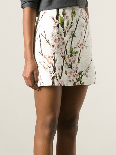 Dolce & Gabbana Floral Print Skirt - Francis Ferent - Farfetch.com