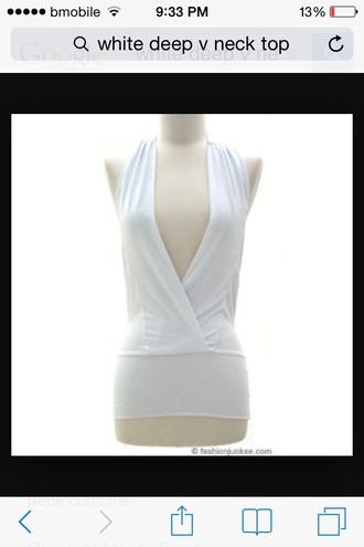 blouse white v neck