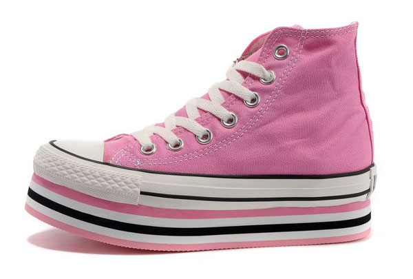 light pink platform converse sneakers