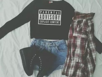 sweater hoodie parental advisory explicit content parental advisory explicit content sweater shoes black fashion outfit