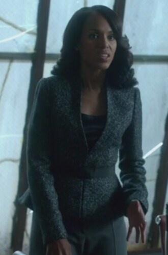 jacket tweed peplum blazer olivia pope scandal kerry washington belted