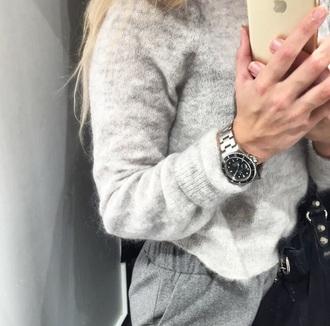 pants girl grey grey sweater iphone trouser