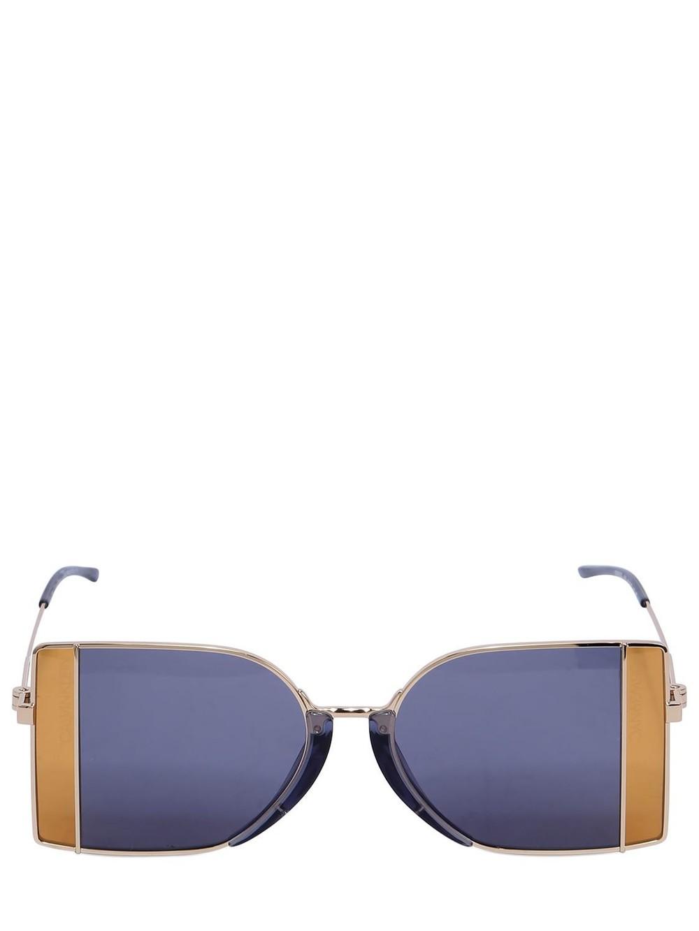 CALVIN KLEIN 205W39NYC Squared See-thru Lens Sunglasses in blue / orange