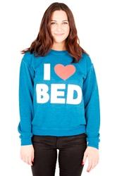 I love bed unisex crew neck sweatshirt