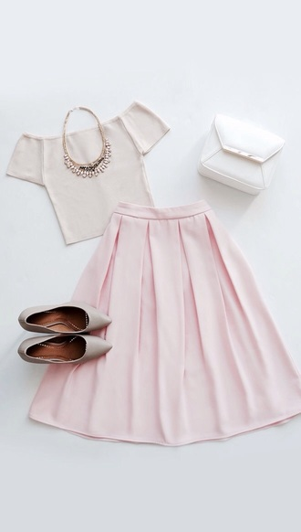skirt pink classy pink skirt pleated skirt baby pink