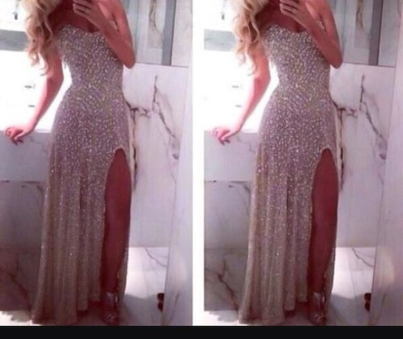 dress cute style fashion silver prom dress glitter dress cute dress prom
