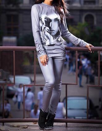 romper sportswear printed sweater girl girly wishlist urban skinny jeans skinny pants skinny sweatshirt trendy citizen youth photo print