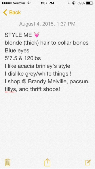 blouse style me brandy melville pacsun tillys girl