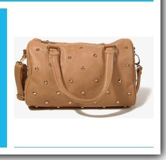 bag biege shoulder bag style spikes